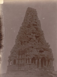 General view of a large ruined temple at Dudahi, Jhansi District.